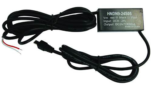 Hard-wired car adapter